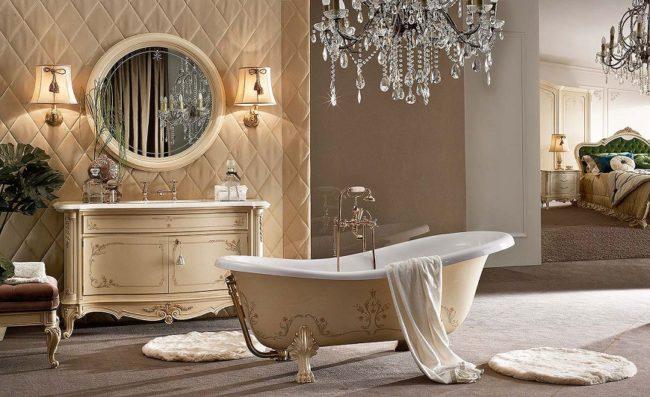 Come arredare il bagno in stile classico uvt libert di for Bagni lusso design