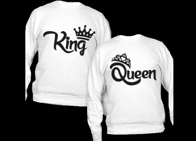 magliette king e queen